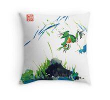 Jumping Frog Throw Pillow