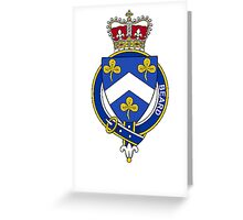 Coat of arms (family crest) for last-name or surname Beard (England) . Heraldry banner for your name. Greeting Card
