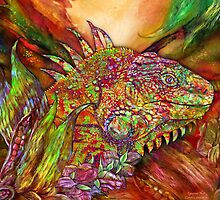 Iguana Hot by Carol  Cavalaris