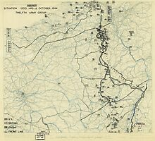 World War II Twelfth Army Group Situation Map October 12 1944 by allhistory