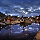 Coventry Canal Basin at Night by Paul Woloschuk
