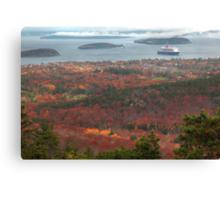 Bar Harbour Cadillac Mountein View, Acadia National park Canvas Print