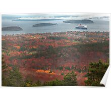 Bar Harbour Cadillac Mountein View, Acadia National park Poster