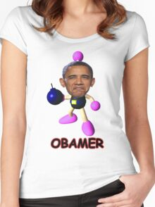 OBAMER Women's Fitted Scoop T-Shirt