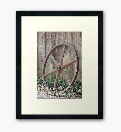 Antique Wheel Framed Print