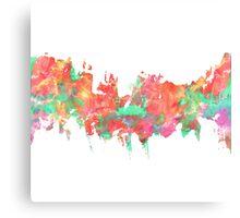 Colorful Watercolor Splatter Canvas Print