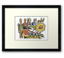 the flame remains Framed Print