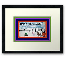 HAPPY HOLIDAYS FROM JOSELYN ROSE-2010 Framed Print
