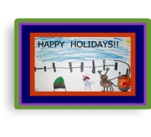 HAPPY HOLIDAYS FROM JOSELYN ROSE-2010 Canvas Print