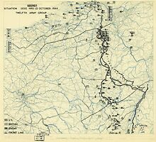 World War II Twelfth Army Group Situation Map October 13 1944 by allhistory