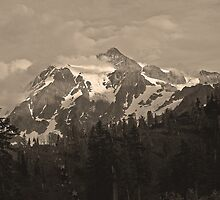 ski lift and mt shuksan, wa by dedmanshootn