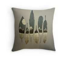 The Birds of Winter Throw Pillow