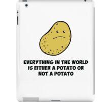 Potato - Think about it  iPad Case/Skin