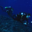Divers At Hideaway Island by Matt-Dowse