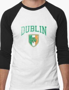 Dublin, Ireland with Shamrock Men's Baseball ¾ T-Shirt
