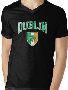 Dublin, Ireland with Shamrock Mens V-Neck T-Shirt