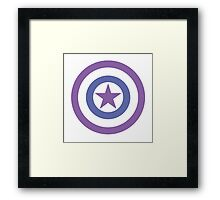 Hawkeye Themed Captain America Shield Framed Print