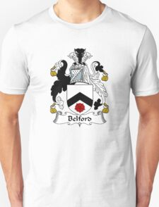 Coat of arms (family crest) for last-name or surname Belford . Heraldry banner for your name. T-Shirt