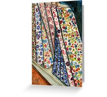 Fabric Bolts at Liberty of London Greeting Card