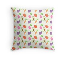 Mixed Vegetable Pattern Throw Pillow