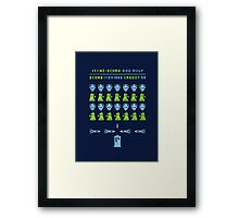 Dr ?: Space Invader Framed Print