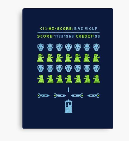 Dr ?: Space Invader Canvas Print