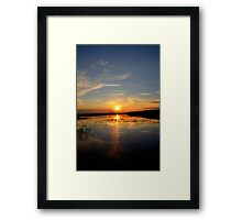Reaching Rays Framed Print
