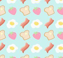 Cute Breakfast Pattern by adorkible