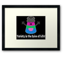 Parody: Variety is the Spice of Life! (Polysexual) Framed Print