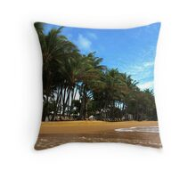 Coconut trees in the Tropical Sun Throw Pillow
