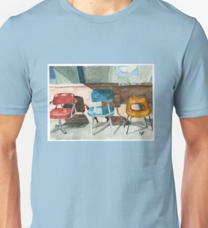 Midcentury Chairs in Paris Unisex T-Shirt