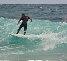 Surfer, Snapper Rocks, 28112010 #2 by Odille Esmonde-Morgan