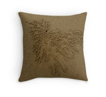 Little balls of sand Throw Pillow