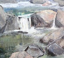Rocks and Forest Pool by Holly Friesen