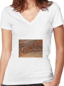 Desert Women's Fitted V-Neck T-Shirt