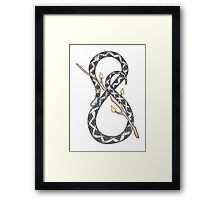 Infinity Snake with Fire wand/stick Framed Print