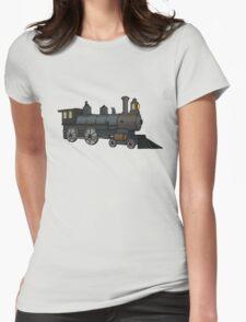 Steam Train Womens Fitted T-Shirt