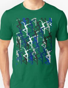 Dave Matthews Band Fire Dancer Pattern- Blue T-Shirt