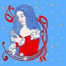 Winter Dove by redqueenself