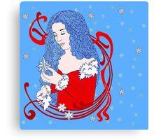 Winter Dove Canvas Print