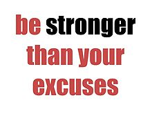 be stronger than your excuses by fitonpointe