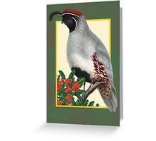 Christmas Quail Greeting Card