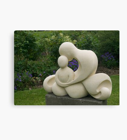 Mother and Child, garden sculpture, Flaxmere Garden, New Zealand Canvas Print