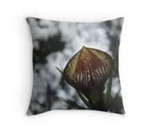 Cryptostylis Erecta Australian Bush Orchid Throw Pillow