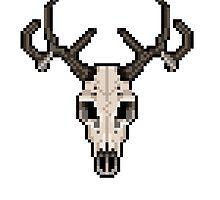 Pixel Deer Skull by Ulla Holm