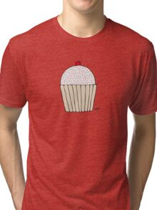 Sweet Strawberry Cupcake - Part of the 'Hungry Monsters Collection' Tri-blend T-Shirt