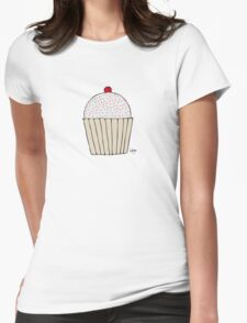 Sweet Strawberry Cupcake - Part of the 'Hungry Monsters Collection' Womens Fitted T-Shirt