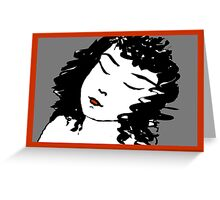 Sleeping girl Greeting Card