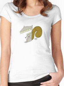 Scooter the Squirrel - Part of the 'Hungry Monsters Collection' Women's Fitted Scoop T-Shirt