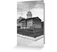 Springfield, Illinois - Old State Capitol Greeting Card